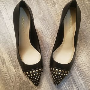 BCBGeneration black heels with studed toe